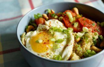 Warm Quinoa & Seared Tomato Salad